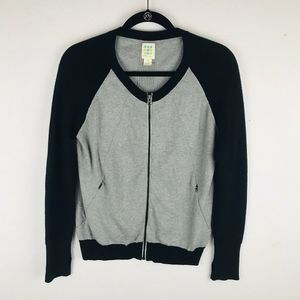 Title Nine Medium Gray Full Zip Sweatshirt